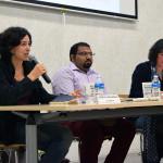 Mireia Chavarria (la Directa) i Amad Hussain (activista)